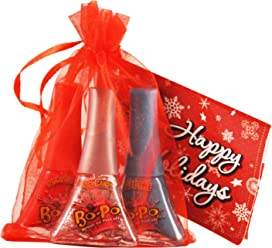 Bo-Po Polish Scented Holiday Pack with Red Gift Bag (3 Piece)