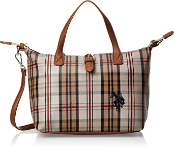 US Polo Womens Patterson Checked Small Shopping