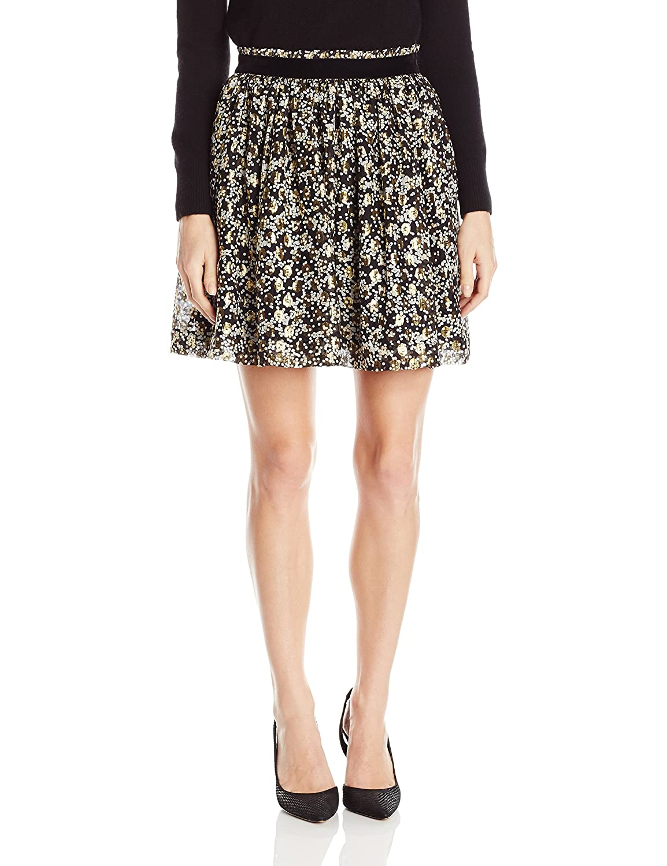 a8af024bcc Scotch & Soda Maison Scotch Women's Silk Lurex Jacquard Mini Skirt, Combo  A, 1 at Amazon Women's Clothing store:
