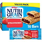 Kellogg's Nutri-Grain, Soft Baked Breakfast Bars, Strawberry, Made with Whole Grain, Value Pack, 20.8 oz (Pack of 3)