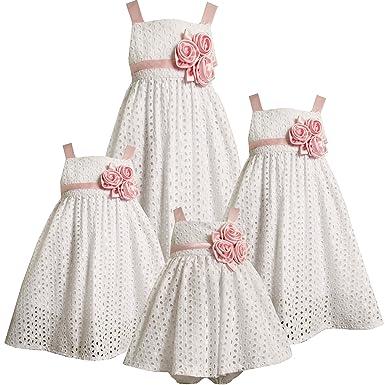 7f858941113 Bonnie Jean Size-6X BNJ-9185S WHITE PINK TRIPLE SATIN ROSETTE EYELET  BABYDOLL Special