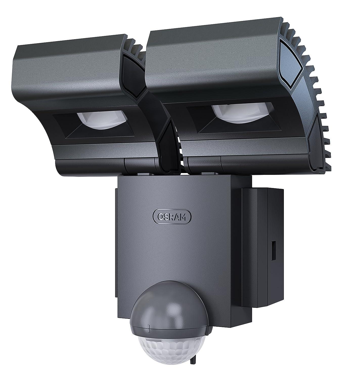 Osram LED Spot, Noxlite, Außenlampe, Außenstrahler 60° schwenkbar und 70 ° kippbar, IP44, anthrazit, Kaltweiß- 3000K [Energieklasse A] Außenlampe Kaltweiß- 3000K Ledvance 4052899193345
