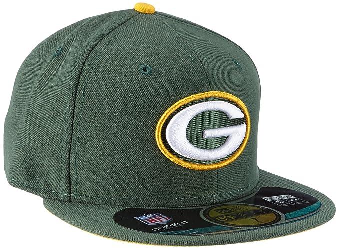474ed8788 Amazon.com   NFL Mens Green Bay Packers On Field 5950 Dark Green Game Cap  By New Era   Sports Fan Baseball Caps   Clothing