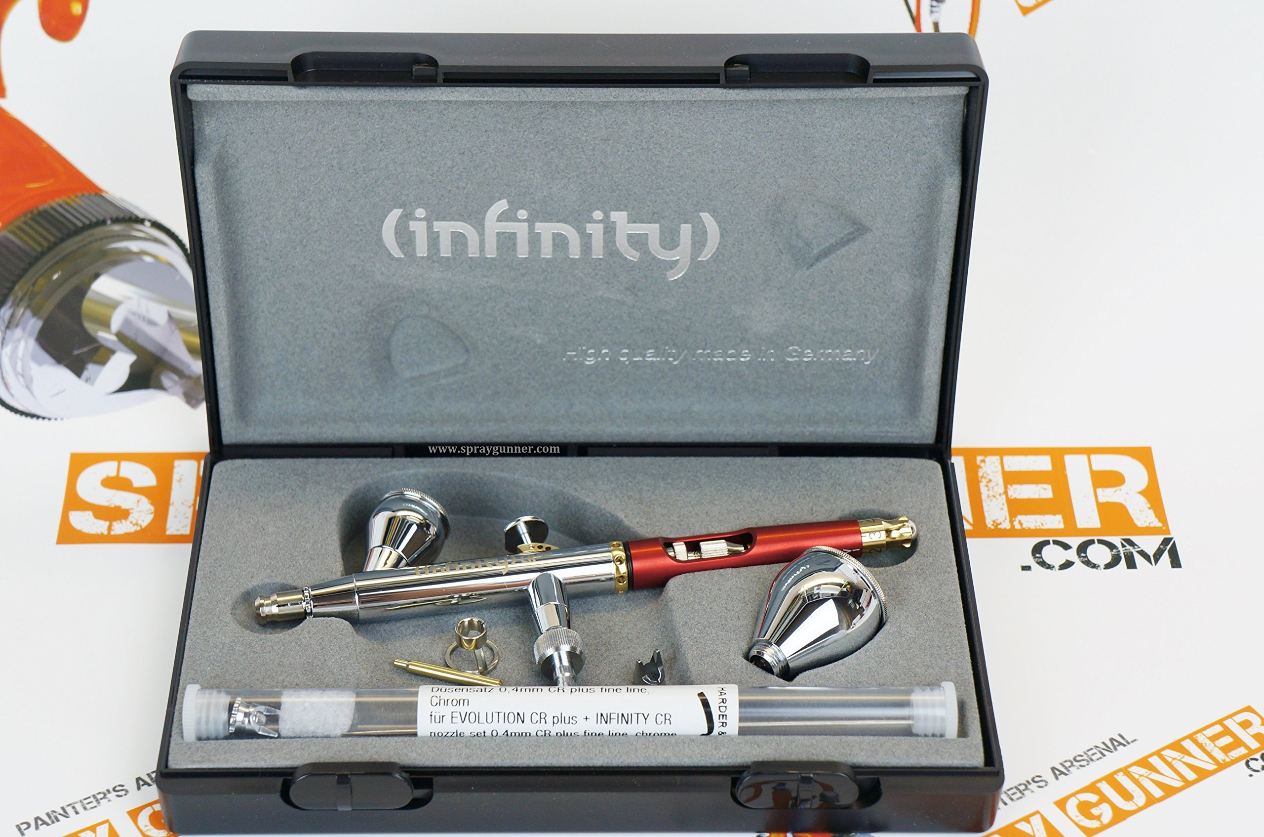 Harder & Steenbeck Infinity CR Plus 2in1 Airbrush 0.2 and 0.4mm nozzle sets 126594. by SprayGunner