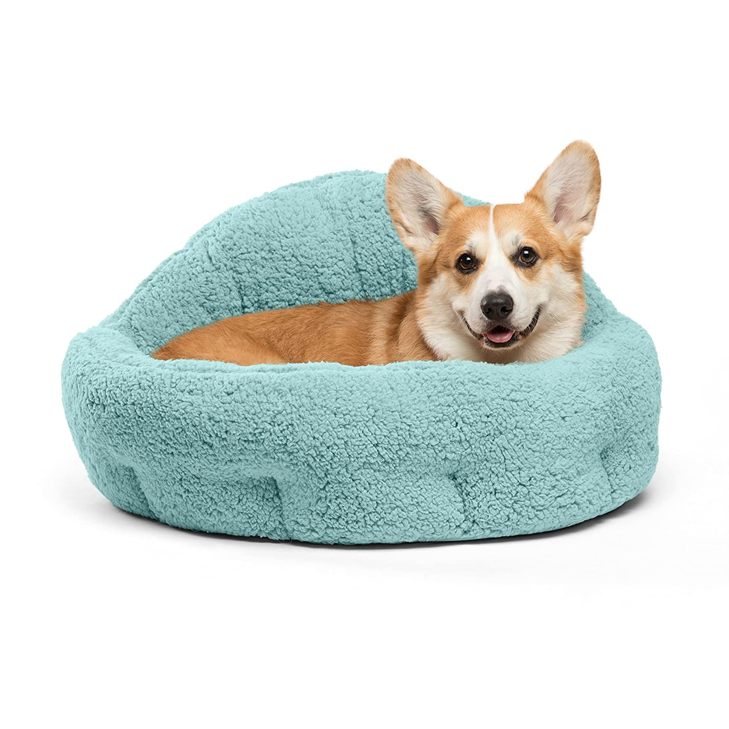 Best Friends by Sheri OrthoComfort Jumbo Large Deep Dish Cuddler Self-Warming Cat and Dog Bed Cushion for Joint-Relief and Improved Sleep, Teal