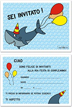 Favorito Inviti Compleanno Set di 10 Cartoline Biglietti invito per festa QM03