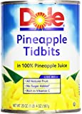 Dole, Pineapple Tidbits in Juice, 20 Oz