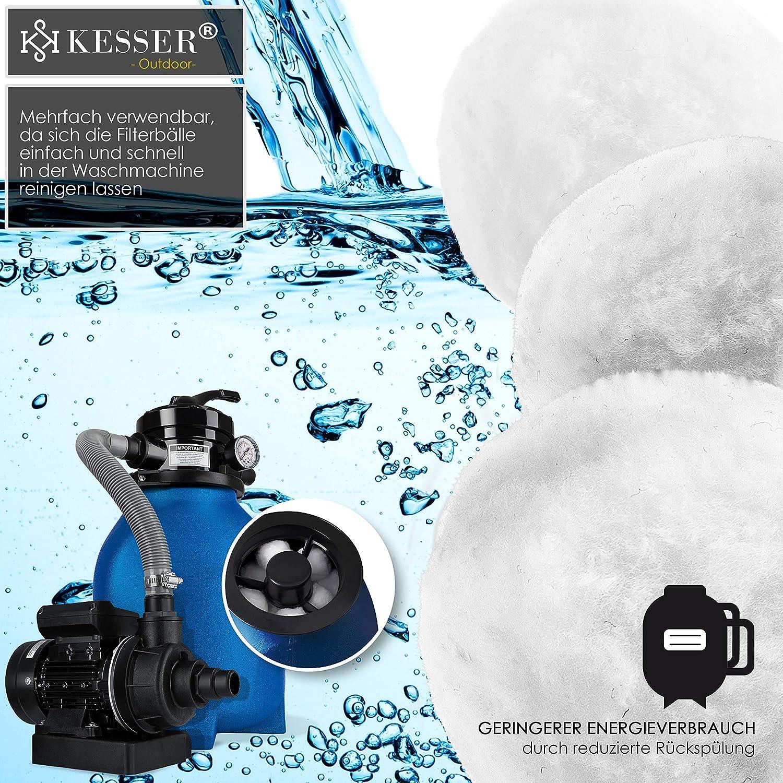 KESSER/® Polysphere Filterb/älle Filter Sandfilteranlage 700g ersetzen 25kg Filtersand Zubeh/ör Ersatz Poolfilter Filteranlage