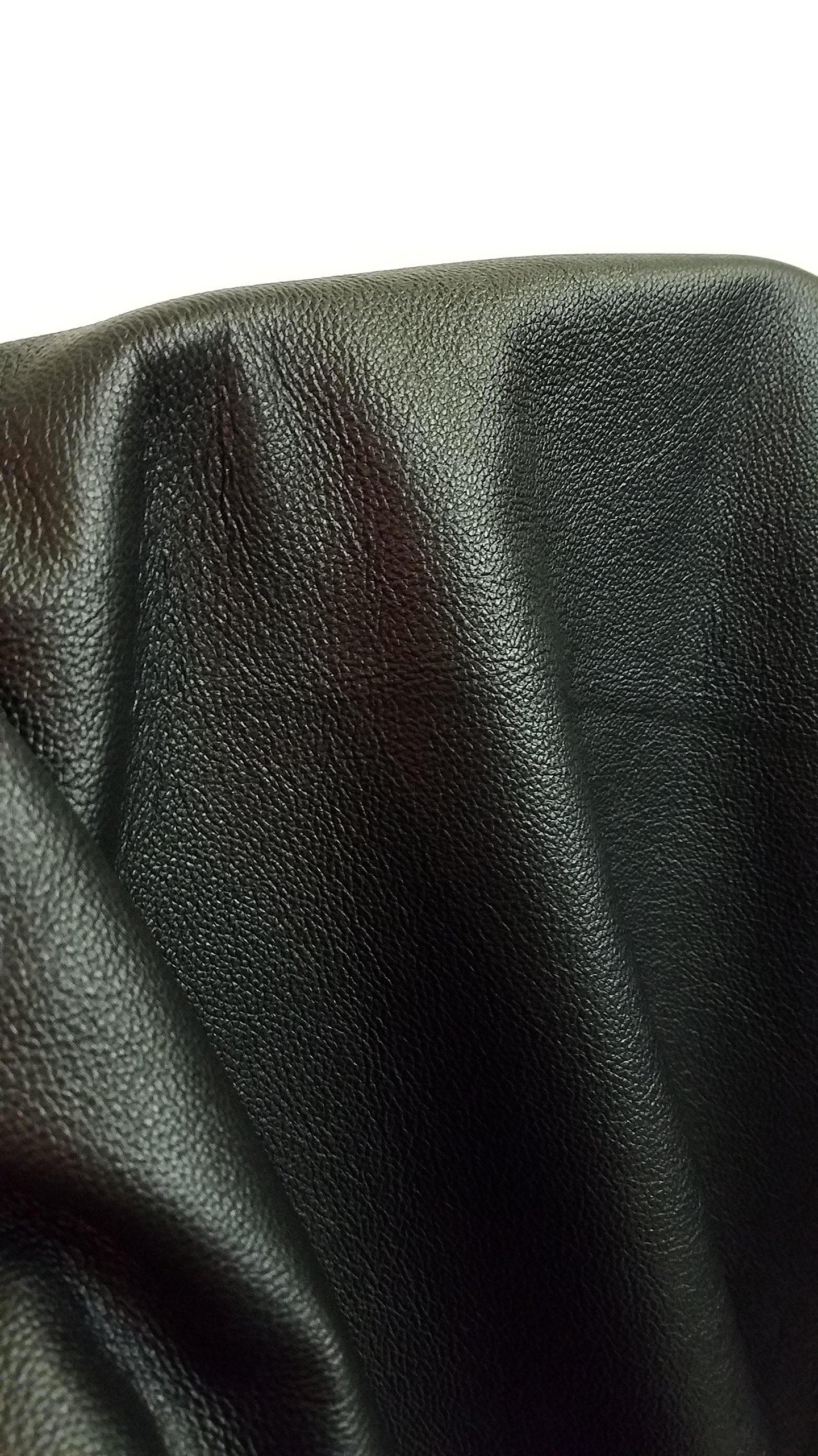 NAT Leathers Black Vintage Soft Upholstery Chap Cowhide 2.5 oz Genuine Leather Hide Skin 22 to 24 Square Feet (33''x55'') Produced in Italy (Black)