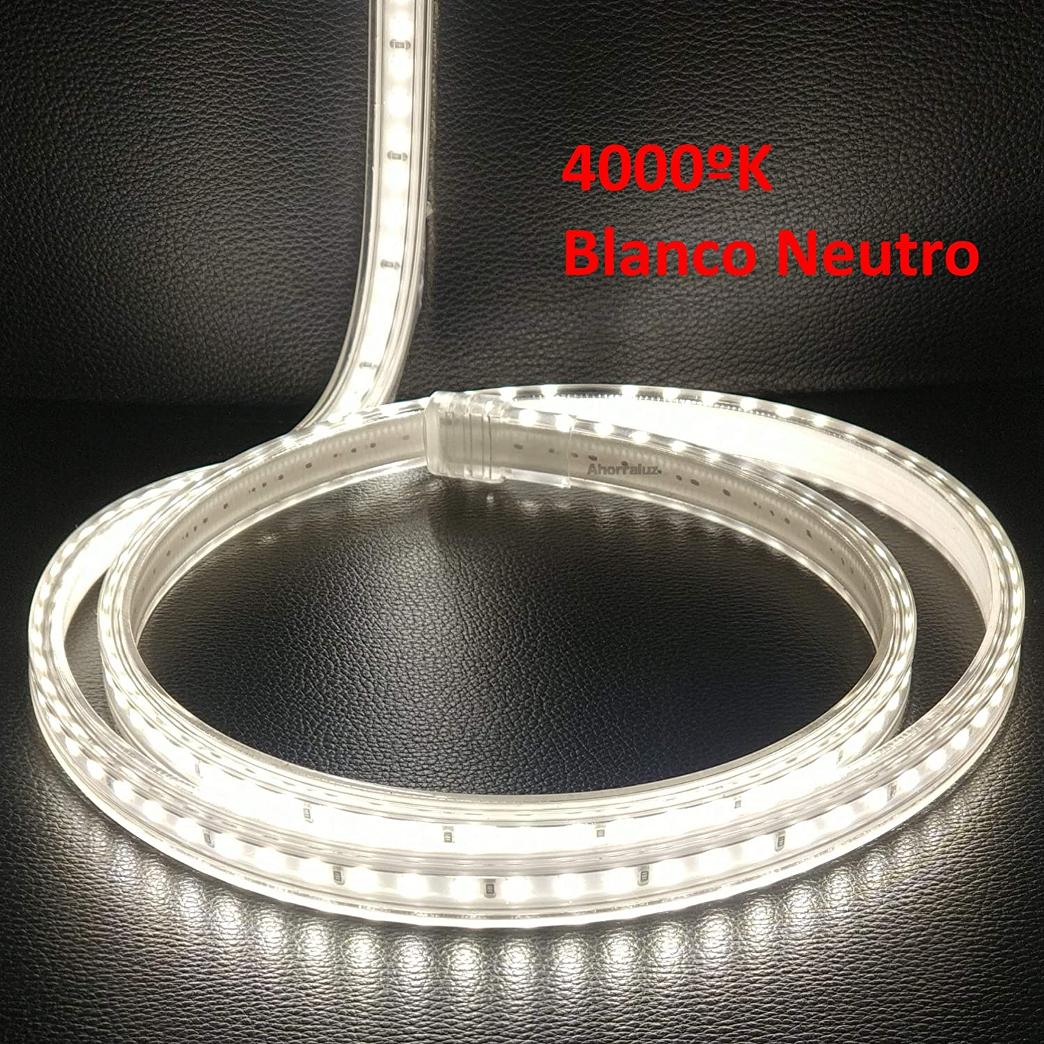 bande LED de 220/ V 2835/ 120/ LED//M haute luminosit/é avec interrupteur imperm/éable Blanc froid//neutre//chaud IP67 2,5M Blanc neutre