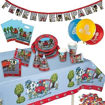 TIB Heyne 19510 Party maletín Bomberos, One size: Amazon.es: Juguetes y juegos
