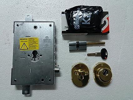Kit Cerradura Puerta Blindada Original securemme entrada 63 mm para puertas blindadas fácil de montar +