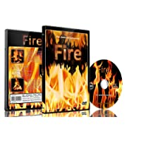 Fire DVD Shot in HD - Looping Scenes of Fireplaces,Camp Fires,Wood Filres, Log Fire