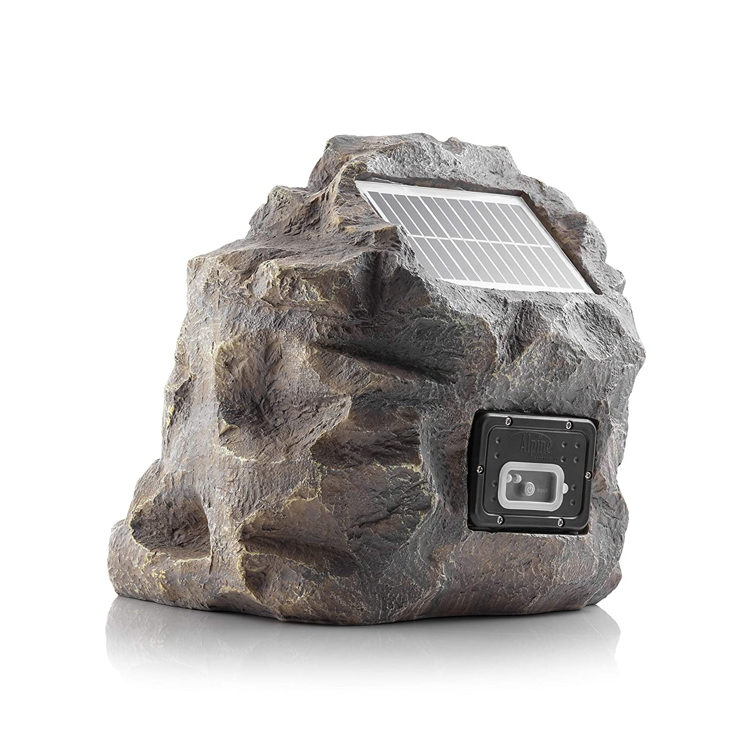 Alpine QLP542SLR-GR Solar Bluetooth Enabled Rock Speaker-Grey