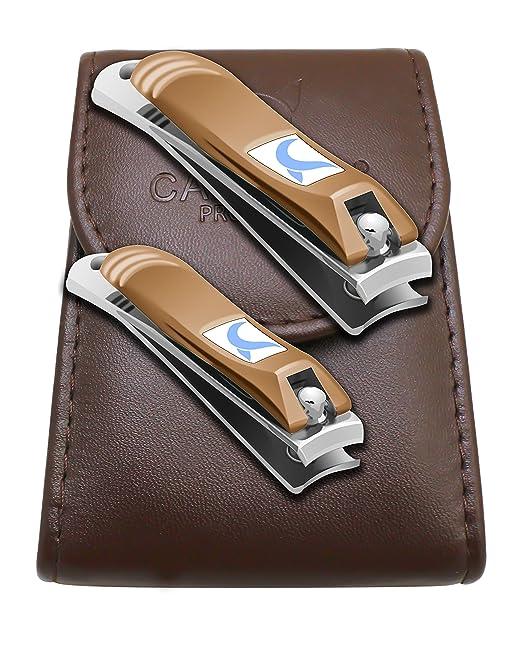 63 opinioni per CANDURE®- 2 pezzi tagliaunghie con lima per unghie- chiodo in acciaio inox