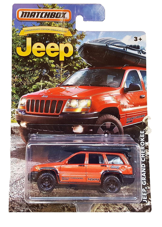 Matchbox Jeep Grand Cherokee Anniversary Limited Edition 13 Wj Wrangler Patriot Metallic Orange Die Cast Toys Games
