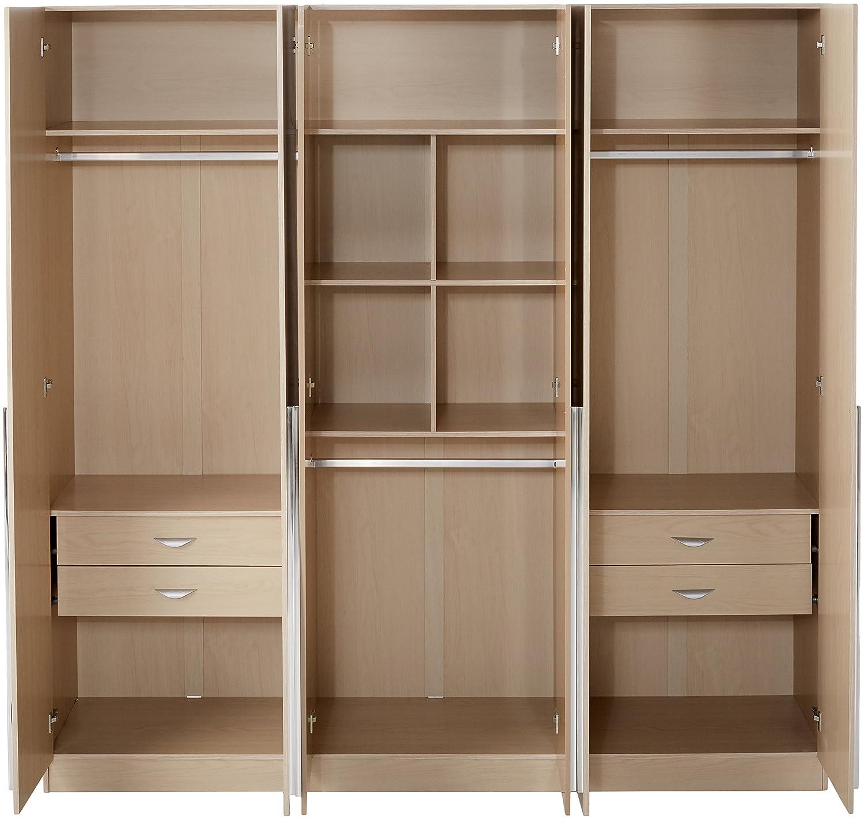 Manhattan Comfort Eldrige Collection 6 Door Freestanding Wardrobe ...