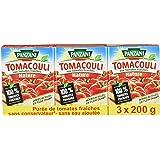 Panzani Sauce Tomacouli Nature 600 g - Lot de 4