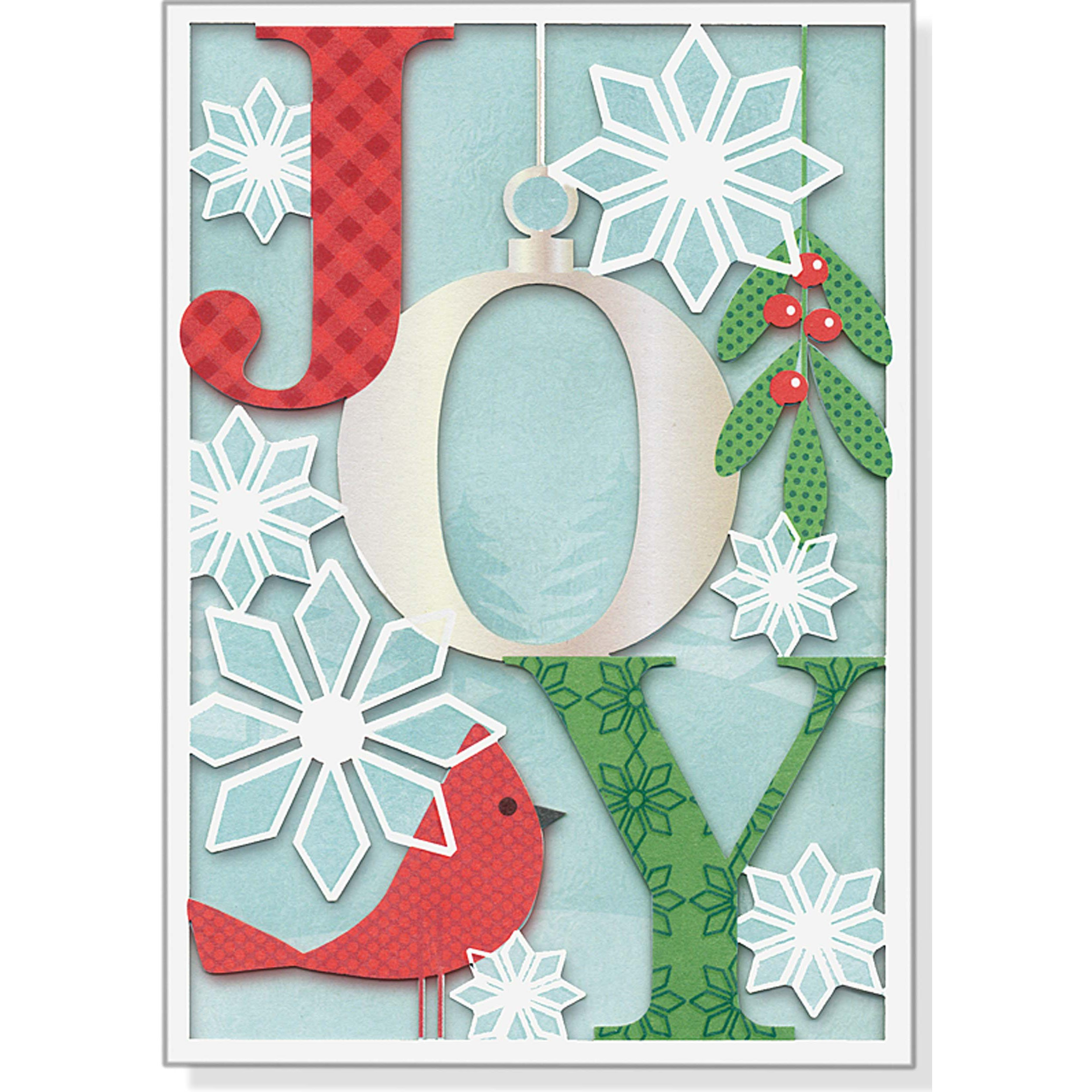 Joy Holiday Boxed Cards (Laser Cut) (Christmas Cards, Holiday Cards ...