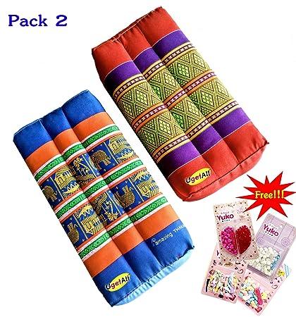 Amazon.com: Ugetall Pack of 2 Thai Pillow Block Best Neck ...