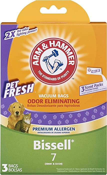 Arm & Hammer Bissell Style 7 Pet Fresh Premium Paper Vacuum Bag
