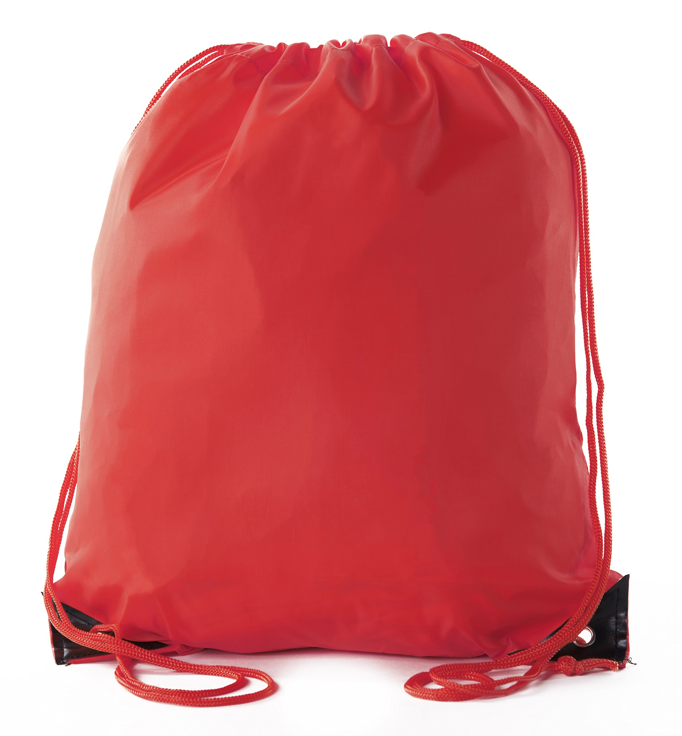 Mato & Hash Basic Drawstring Tote Cinch Sack Promotional Backpack Bag - 100PK Red CA2500 - 2 by Mato & Hash