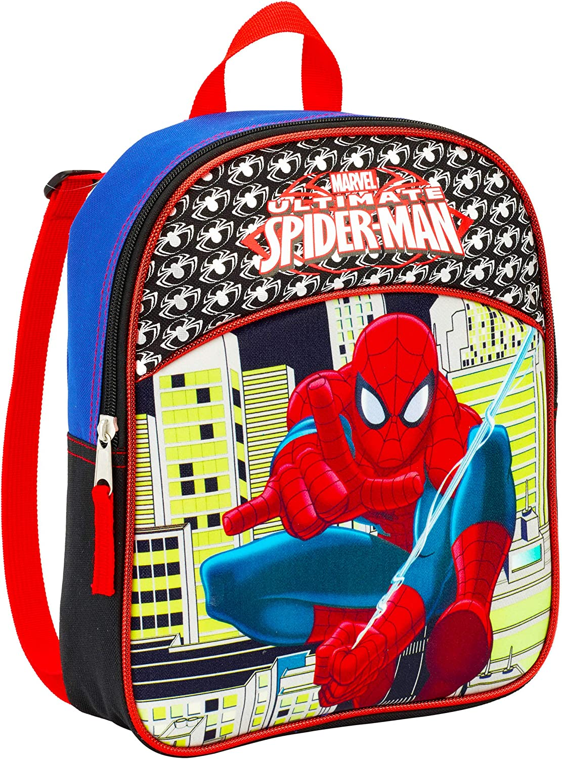 "Marvel Spiderman Mini Toddler Preschool Backpack (11"") (Spider-Man School Supplies Bundle)"