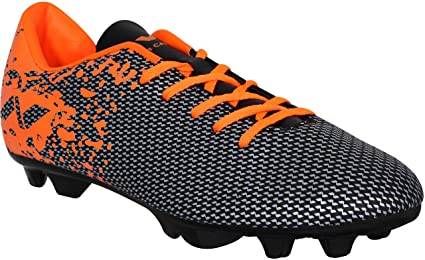 e60cf50954b Nivia Premier Carbonite Range Football Studs 11UK(Black Orange)  Amazon.in   Sports