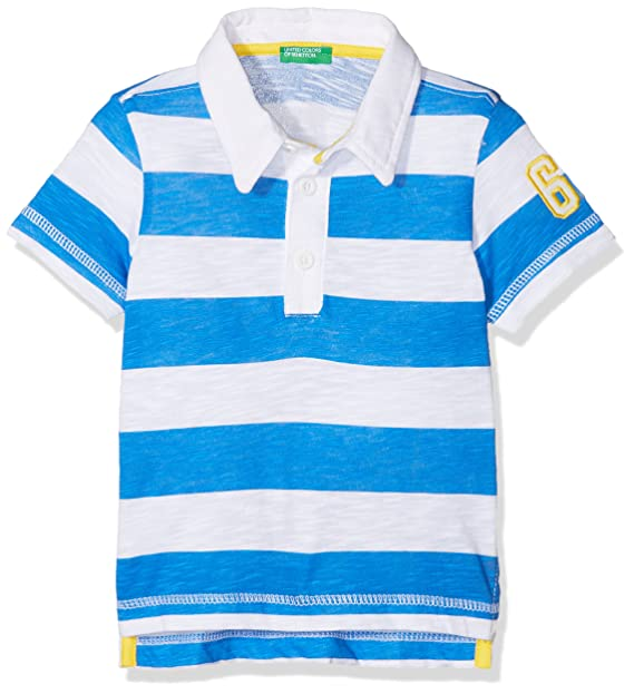 United Colors of Benetton H/s Shirt, (White & Electric Blue ...