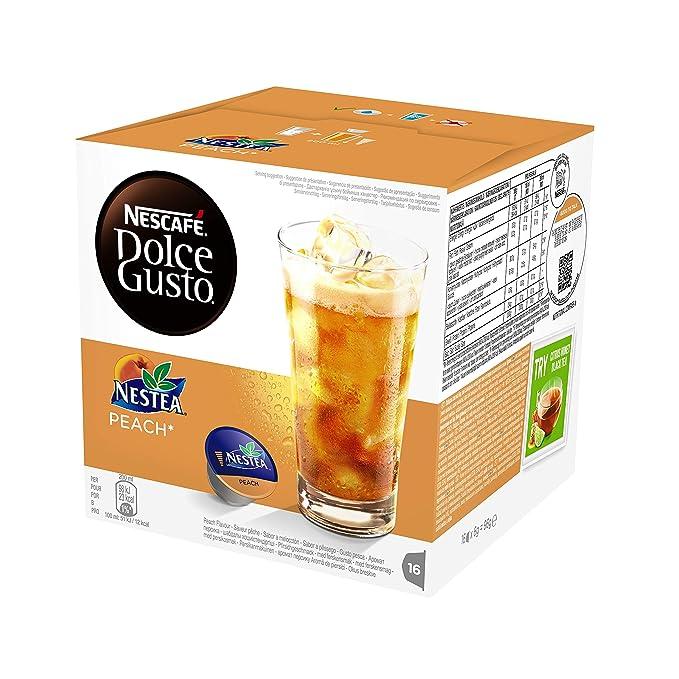 NESCAFÉ Dolce Gusto Nestea Peach Té Frío   Pack de 16 Cápsulas: Amazon.es: Amazon Pantry