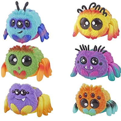 Spider FlufferPuff; Harry Scoots, Klutzers, Toofy Spooder, Bo Dangles and Peeks Voice-Activated Pet; Ages 5 and up - Set of 6: Toys & Games