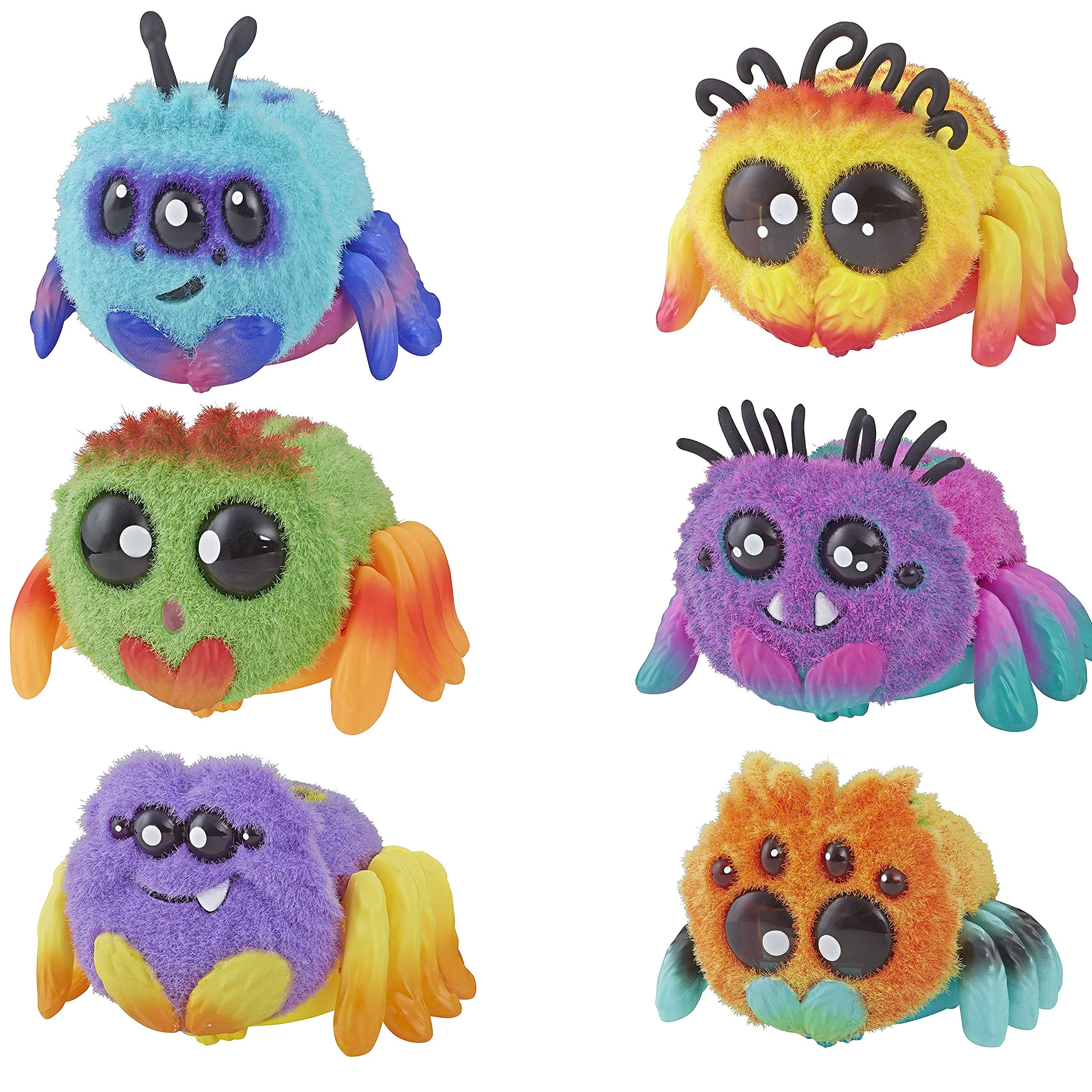 Spider FlufferPuff; Harry Scoots, Klutzers, Toofy Spooder, Bo Dangles and Peeks Voice-Activated Pet; Ages 5 and up - Set of 6 by Hasbro (Image #1)