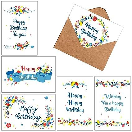 Amazon 60 Assorted Happy Birthday Gift Cards Folded Birthday