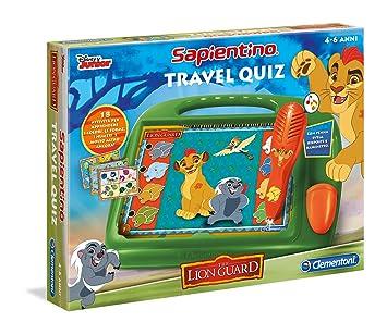 Clementoni Travel Quiz - Juego de viaje (versión italiana) La Guardia del León multicolor