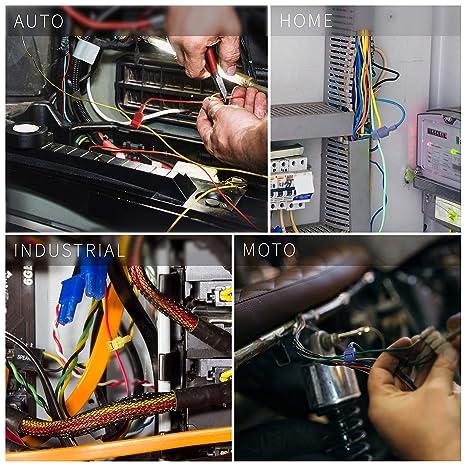 Conectores eléctricos de Grifo Wirefy 120 PCS - Grifos rápidos de empalme de cables y terminales de desconexión rápida macho aislados: Amazon.es: Industria, ...