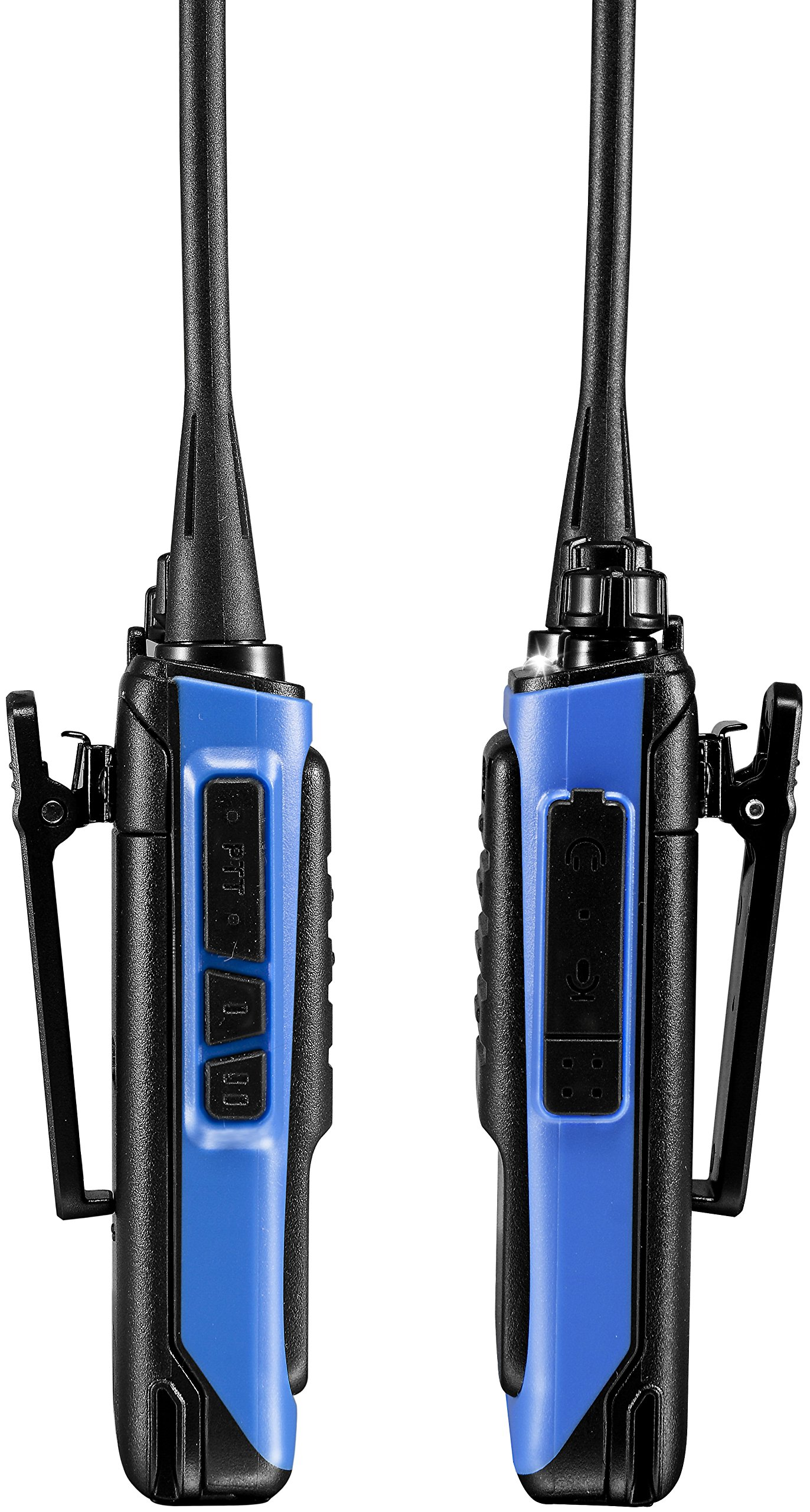 5740591ca3c Arcshell Rechargeable Long Range Two-Way Radios with Earpiece 2 Pack UHF 400 -470Mhz Walkie Talkies Li-ion Battery and Charger Included