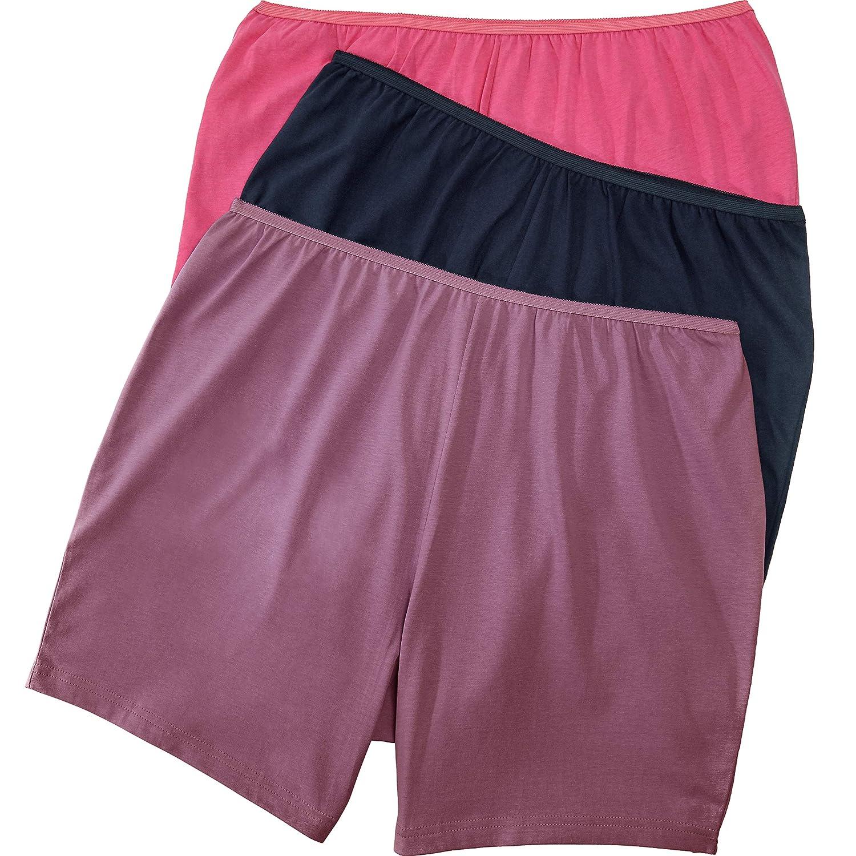 Comfort Choice Womens Plus Size 3-Pack Cotton Boxer