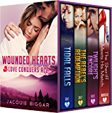 Wounded Hearts- Books 1-4: Love Conquers All (A Romantic Suspense Collection)
