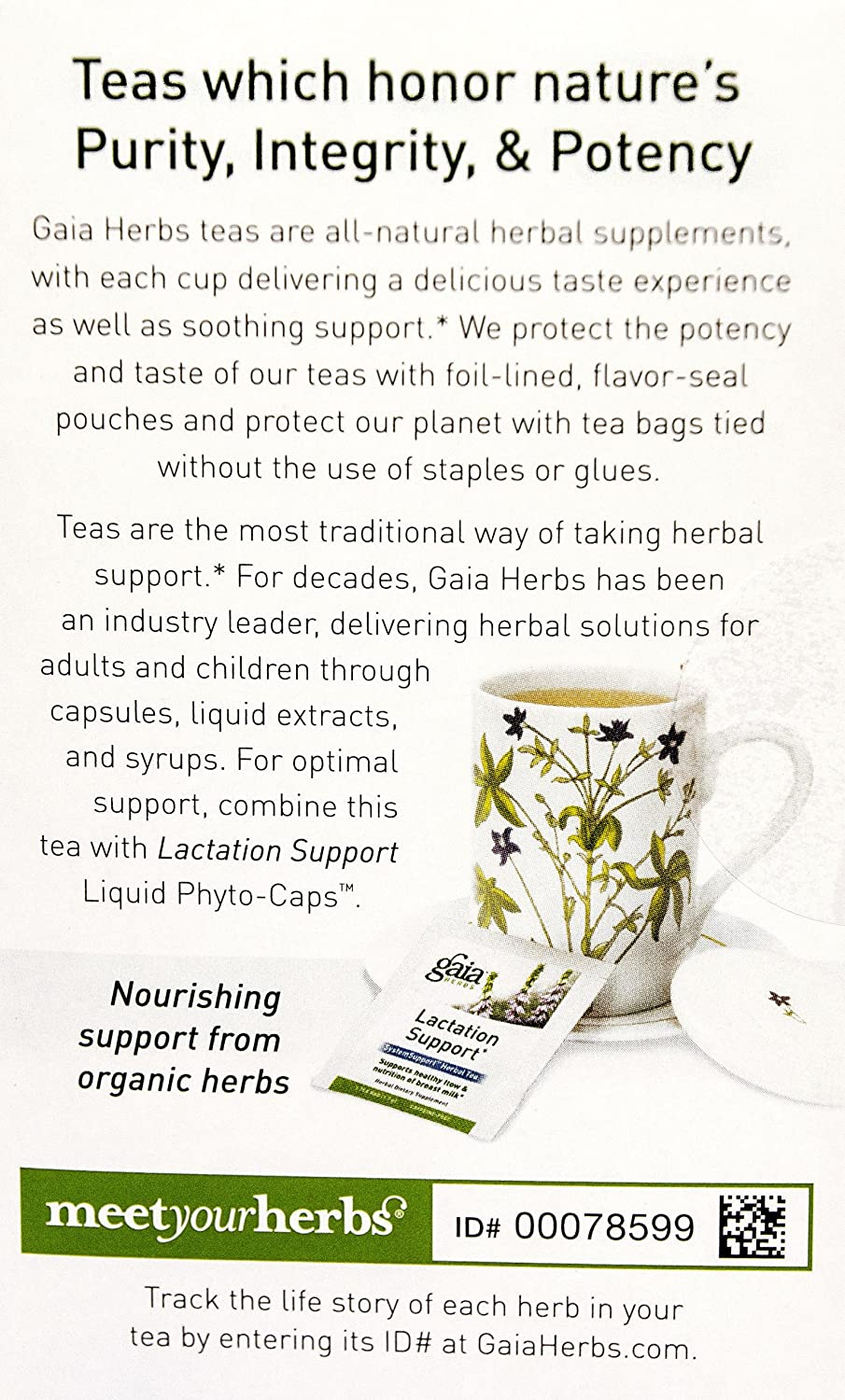 Gaia Herbs Lactation Support Herbal Tea 16 Bags Of Gold Breastfeeding 60 Tablets Supplement For Mothers Supports Healthy Milk Flow Enhances
