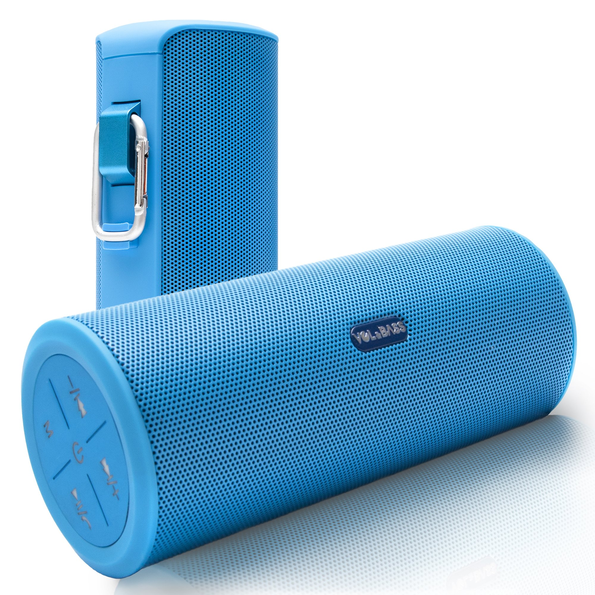 Volume & Bass Wireless Bluetooth Speakers. Best Portable Hi-Fi 360 Degree Sound & Rechargeable Power Bank for iPhone Ipad Mini Samsung AUX MP3 Players - HandsFree (Blue)