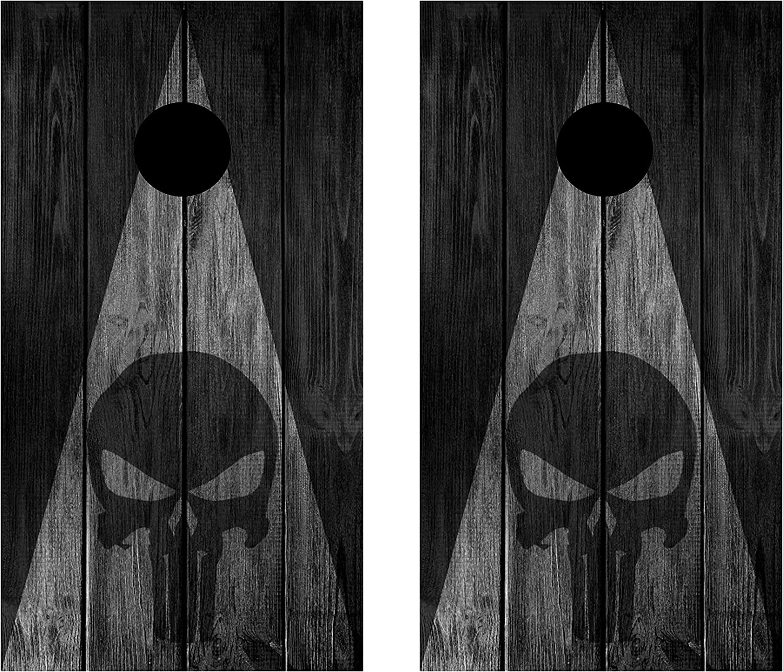 C218 Punisher Cornhole Board Wrap LAMINATED Wraps Decals Vinyl Sticker