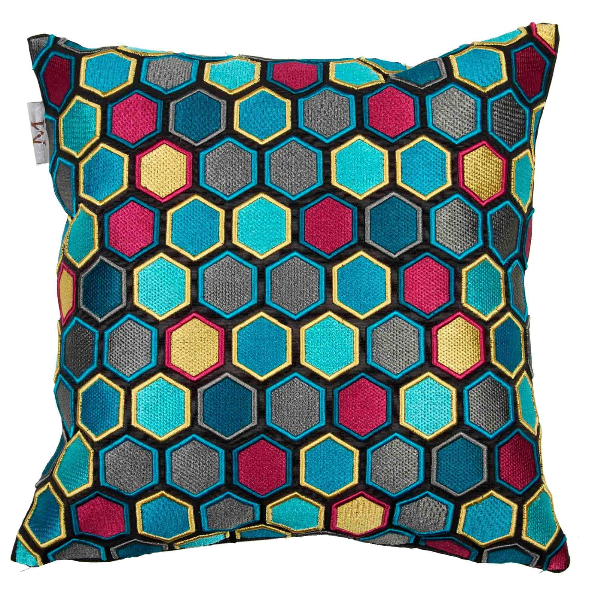 Madura Decorative Pillow - Throw Pillow cover Honey 16X16 Blue And Red