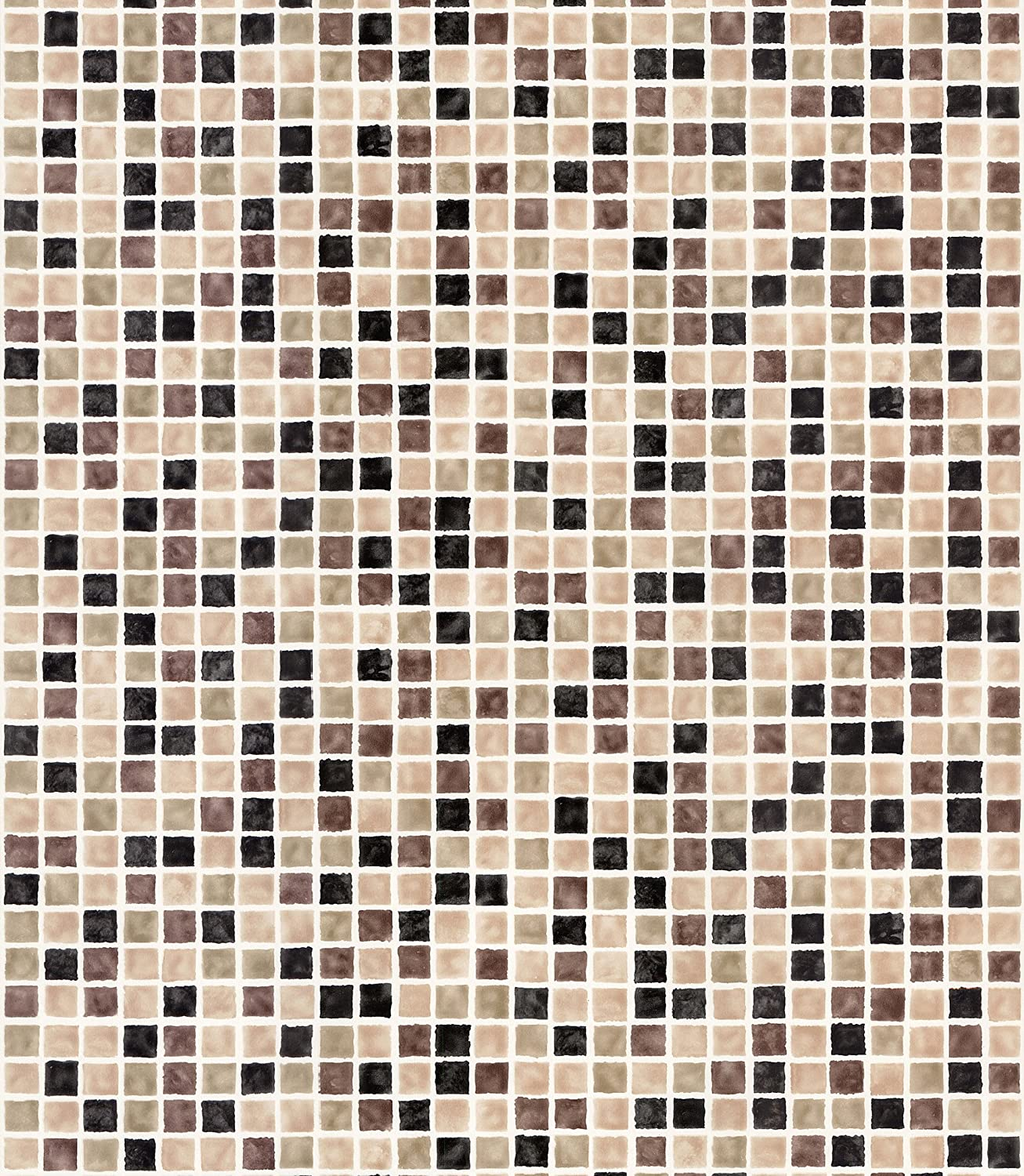 Brewster 414-59632 Corfu Brown Tiles Wallpaper