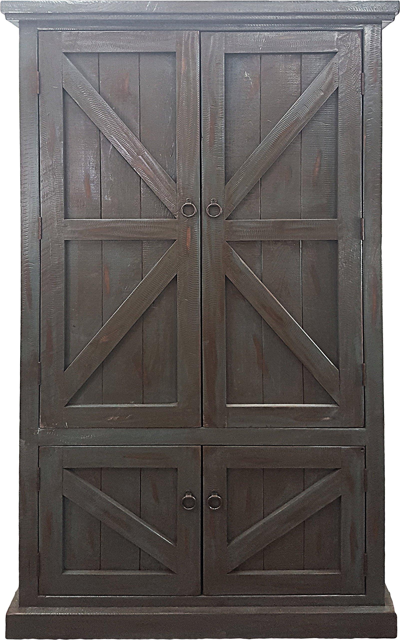 American Heartland #30791RGY Rustic Double Door Pantry, Rustic Grey
