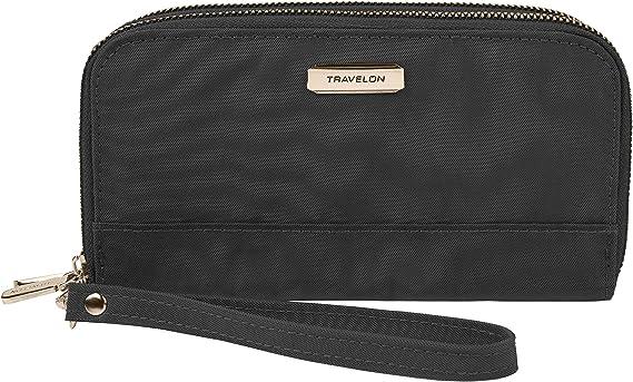 Travelon RFID Blocking Double Zip Wallet