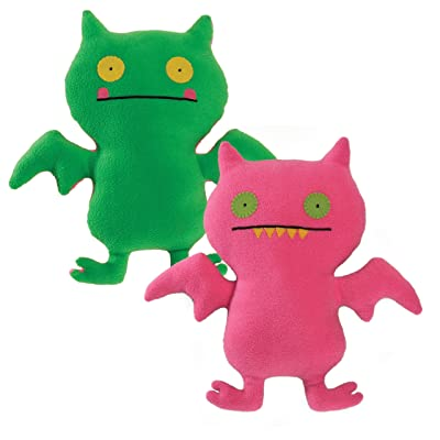 """Uglydoll Double Trouble Ice Bat 14.25"""" Plush, Pink/Green: Toys & Games"""