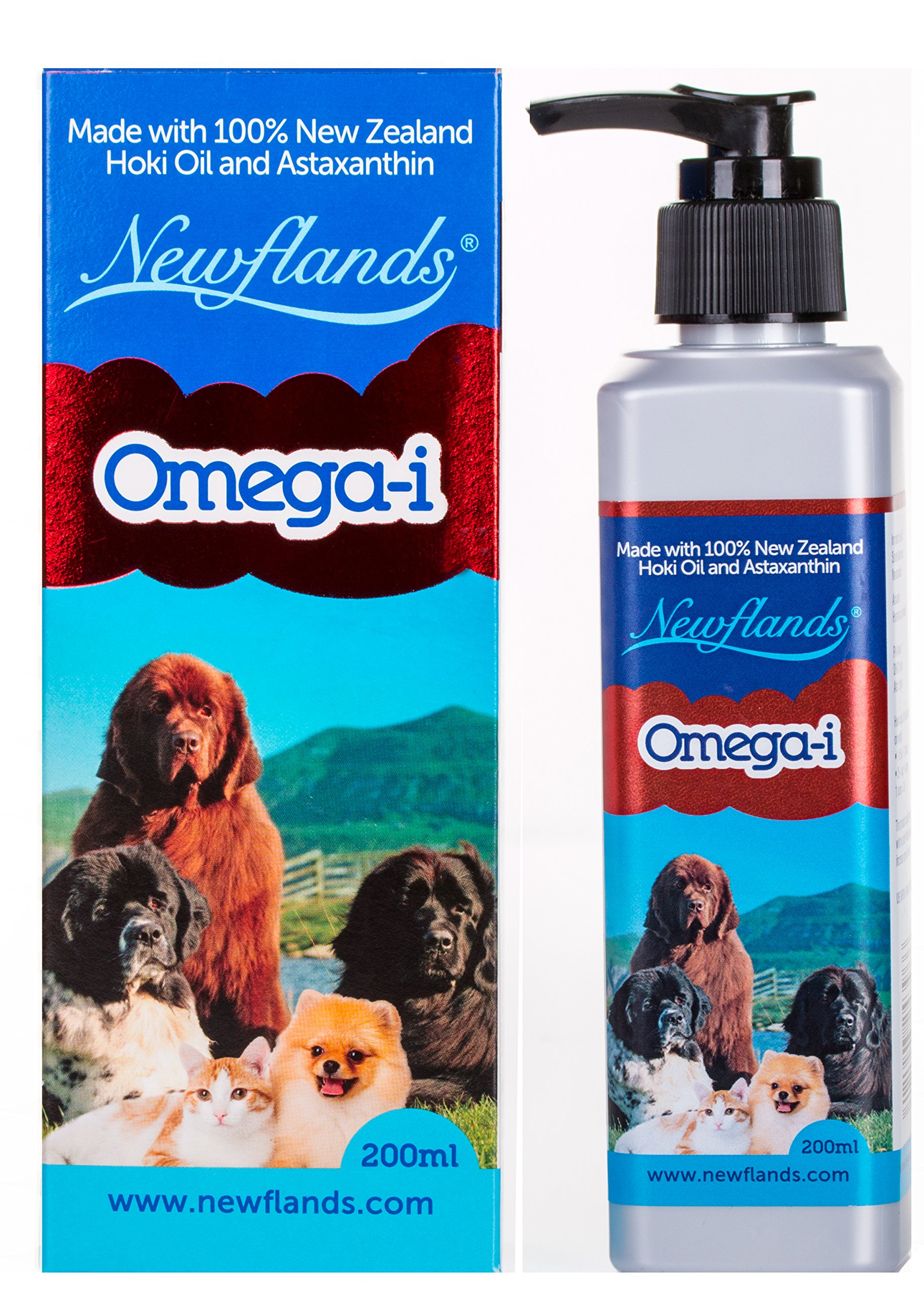 Newflands Pet Omega-i Oil Natural, Veterinary Grade, Fish Oil Food Supplement For Dogs and Cats, 6.76oz (200ml)