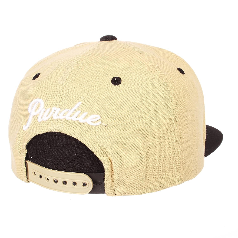 NCAA Zephyr Purdue Boilermakers Mens Z11 Static Snapback Hat Adjustable Black//Team Color