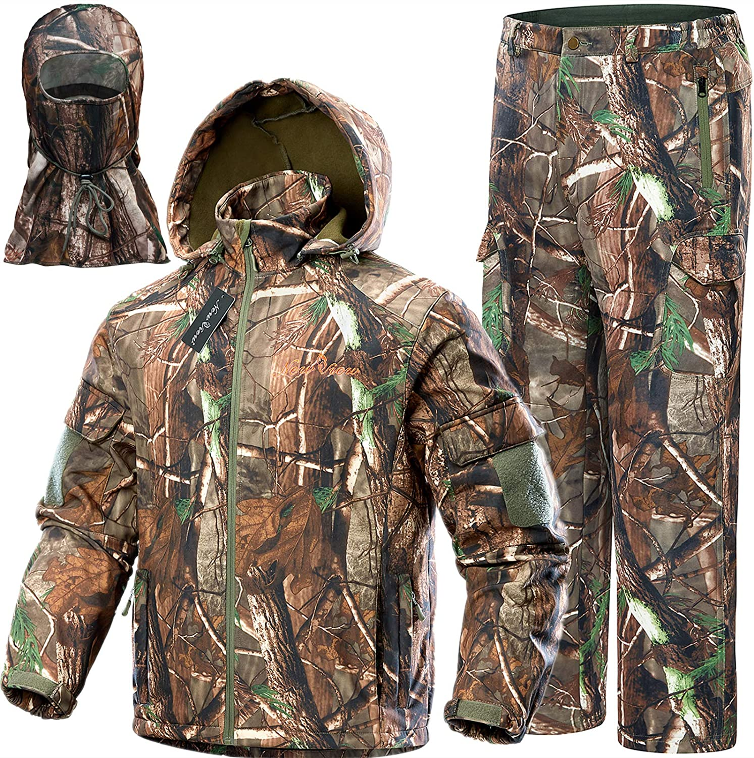 NEW VIEW Upgraded Hunting Clothes for Men,Silent Water Resistant Hunting Suits,Hunting Jacket and Pants: Clothing