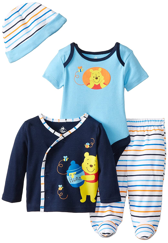 Disney Baby Boys' Winnie The Pooh 4 Piece Gift Set 27DPBNB8165-P6